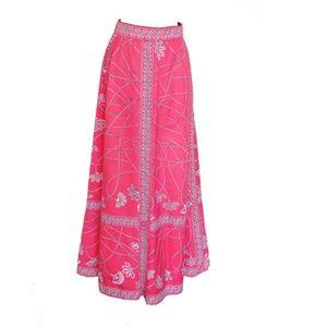 Emilio Pucci Skirts - Emilio Pucci Maxi Skirt Cotton Twill Pink White 14